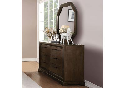 Selma Tobacco Dresser and Mirror,Acme
