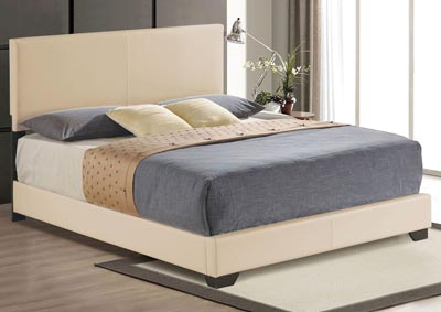 Ireland III Beige Queen Bed