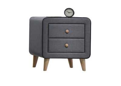 Valda Light Gray Fabric Nightstand,Acme