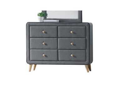 Valda Light Gray Fabric Dresser,Acme