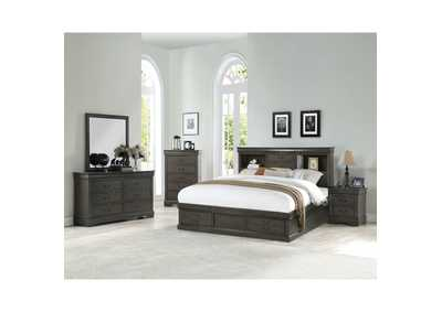 Image for Louis Philippe III Dark Gray Queen Bed