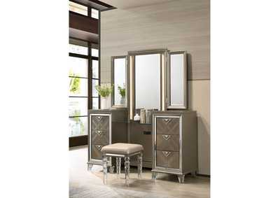 Image for Skylar Champagne Vanity Desk and Mirror