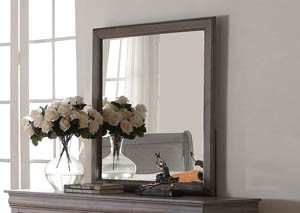 Image for Louis Philippe III Antique Gray Mirror