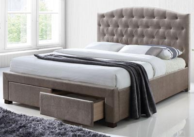 Denise Mink Queen Storage Bed