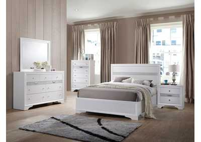 Image for Naima White Twin Bed (No Storage)