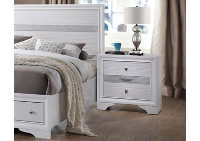 Naima White Nightstand,Acme