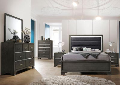 Carine II Gray Queen Bed