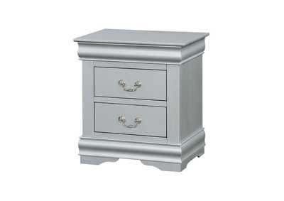 Louis Philippe III Platinum Nightstand,Acme