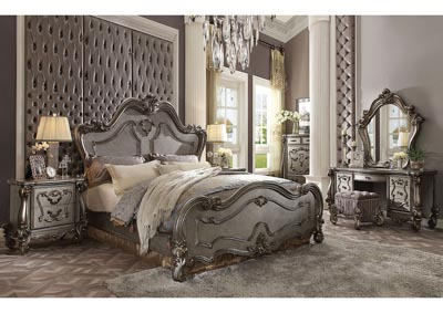 Versailles Antique Platinum Queen Bed
