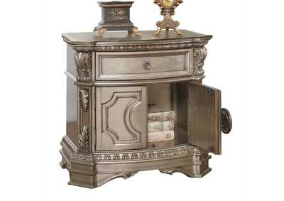 Northville Antique Silver Nightstand,Acme