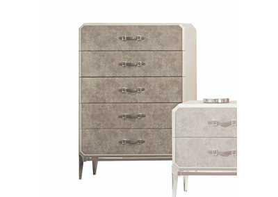 Kordal Vintage Beige PU Chest,Acme