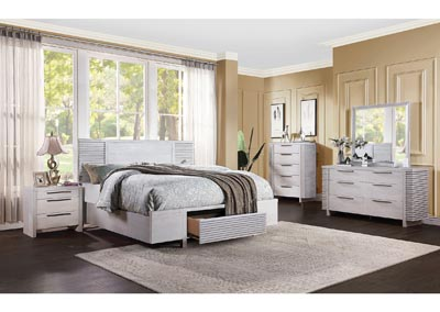 Image for Aromas White Oak California King Storage Bed