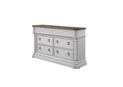 York Shire Oak & antique white finish Dresser,Acme