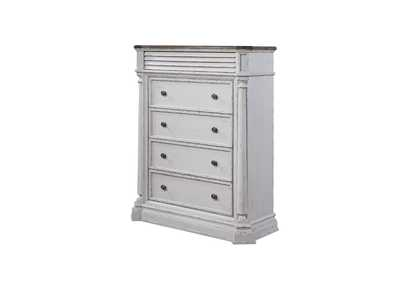 York Shire Oak & antique white finish Chest,Acme