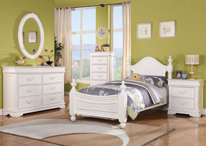 Classique White 2 Drawer Nightstand