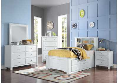 Image for Mallowsea White Twin Bed