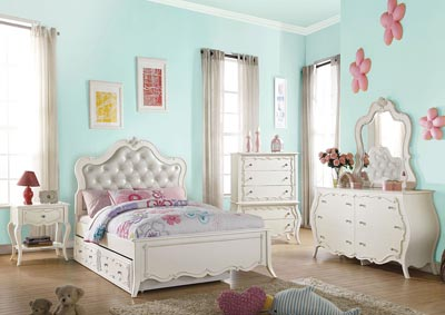 Image for Edalene Pearl White Full Bed