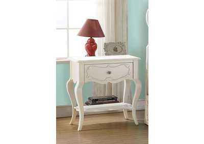 Image for Edalene Pearl White Nightstand