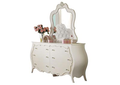Image for Edalene Pearl White Mirror