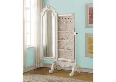 Image for Edalene Pearl White Jewelry Armoire