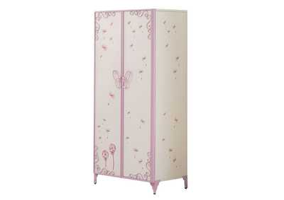 Image for Priya II White & Light Purple Wardrobe