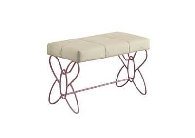 Image for Priya II White & Light Purple Bench