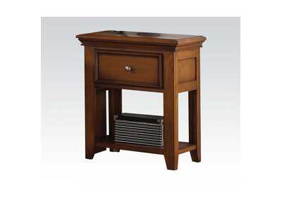 Lacey Cherry Oak Nightstand,Acme