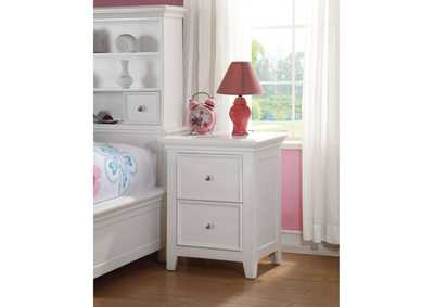 Lacey White Nightstand,Acme