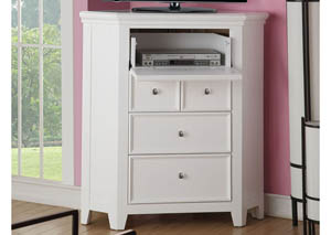 Image for Lacey White Corner TV Stand