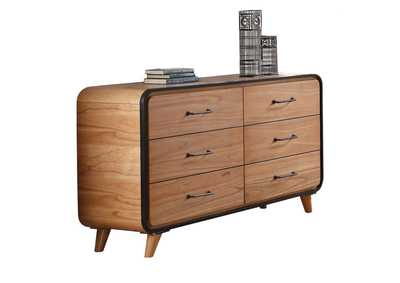 Carla Oak & Black Dresser,Acme
