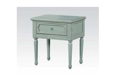Morre Antique Teal Nightstand,Acme