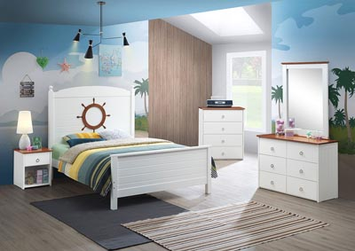 Image for Farah White & Oak Full Bed