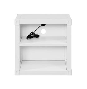 Cargo White Nightstand (USB)
