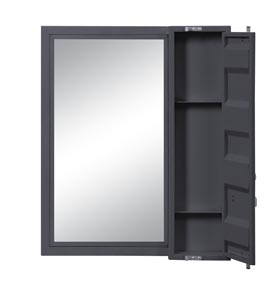 Image for Cargo Gunmetal Vanity Mirror