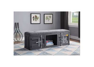 Image for Cargo Gray Fabric & Gunmetal Bench
