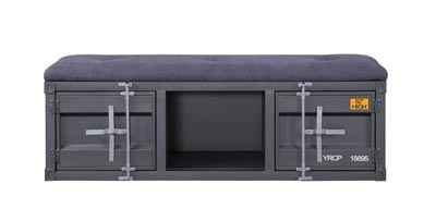 Image for Cargo Gunmetal Storage Bench