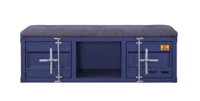 Image for Cargo Blue Bench (Storage)