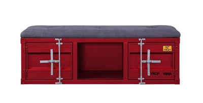 Image for Cargo Red Bench (Storage)