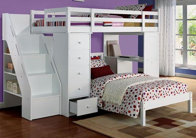 Image for Freya White Twin Bed