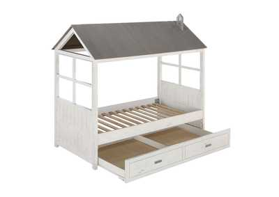 Image for Tree House II Weathered White & Washed Gray Twin Bed