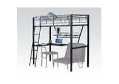 Image for Senon Silver/Black Loft Bed w/Desk