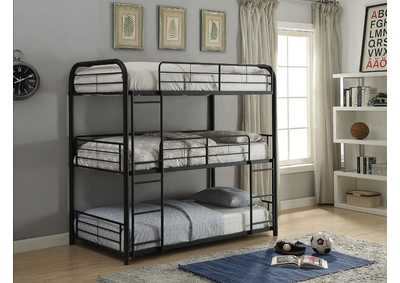 Cairo Sandy Black Triple Bunk Bed - Twin,Acme