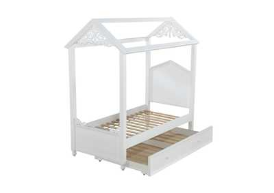 Image for Rapunzel White Twin Bed