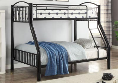Cayelynn Black Twin/Full Bunk Bed,Acme