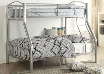 Cayelynn Silver Twin/Full Bunk Bed