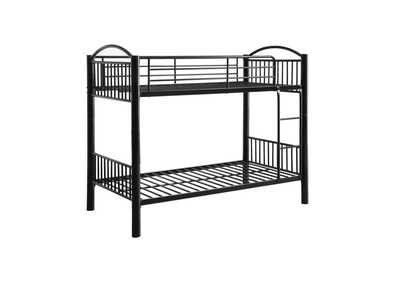 Cayelynn Black Twin/Twin Bunk Bed