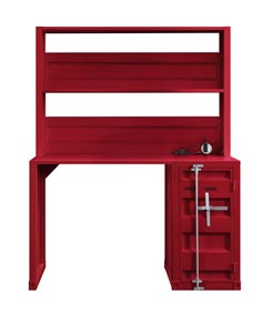 Cargo Red Desk and Hutch