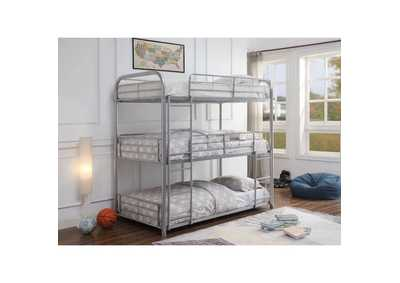Cairo Silver Bunk Bed - Triple Twin