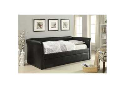 Image for Misthill Black PU Daybed