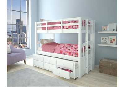 Micah White Twin/Twin Bunk Bed & Trundle